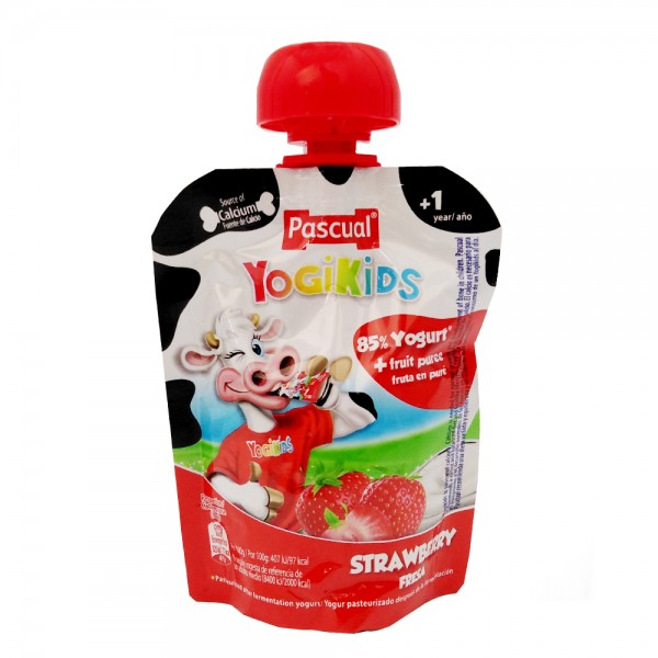 Pascual Yogikids Pouch Strawberry 457598-V001 by Pascual