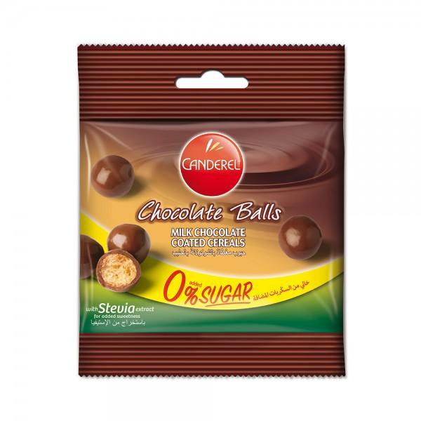 CANDEREL 0% added sugar Milk Chocolate Balls 40G 457889-V001 by Canderel
