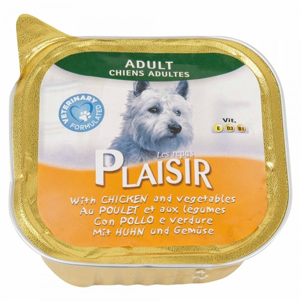 Les Repas Plaisir Adult Dog With Chicken &  Vegetables 300G 458708-V001 by Les Repas Plaisir