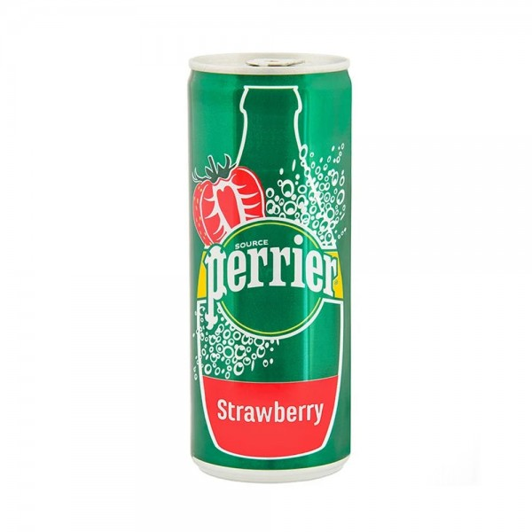 Perrier Strawberry Slim Can 25cl 460092-V001 by Perrier