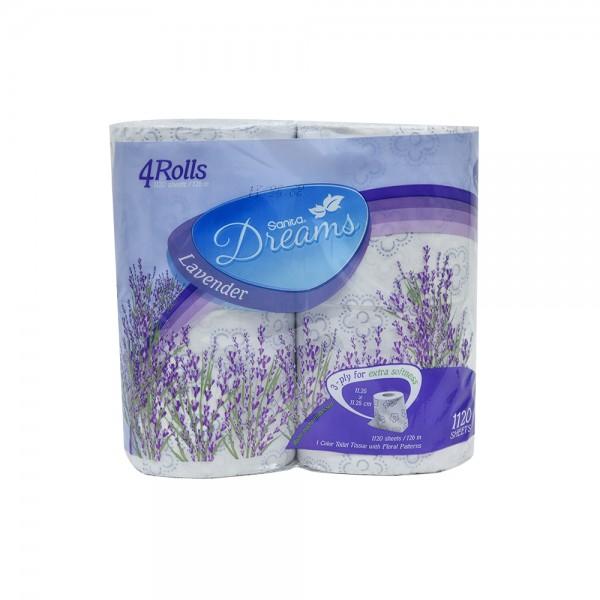 Sanita Dreams Scented Toilet Tissue Lavender 4 Rolls 460478-V001 by Sanita