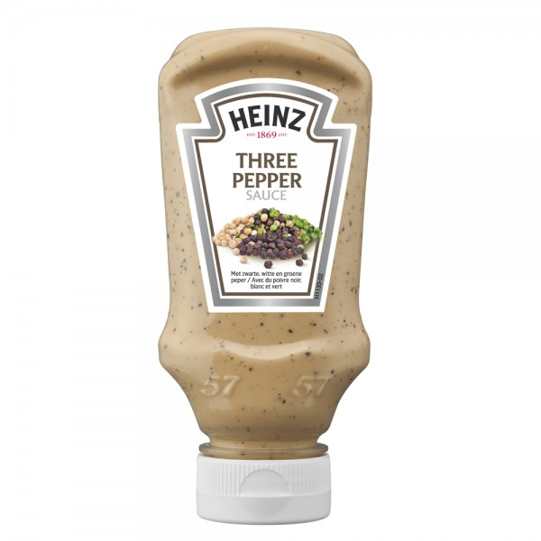 Heinz Sauce 3 Pepper Top Down - 220G 461108-V001 by Heinz