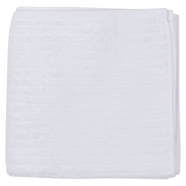 Spinneys Ribbed Bath Towel White Color 50X100 550G 464246-V001 by Spinneys Home