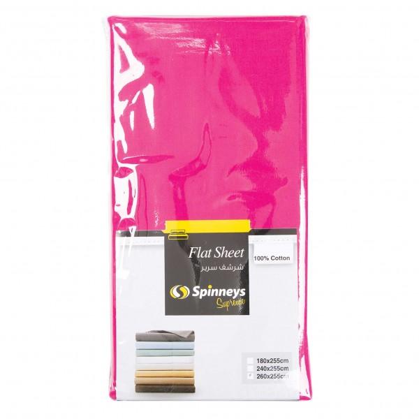 Spinneys Flat Sheet Fushia 100Pcent Cotton 464310-V001 by Spinneys Supreme