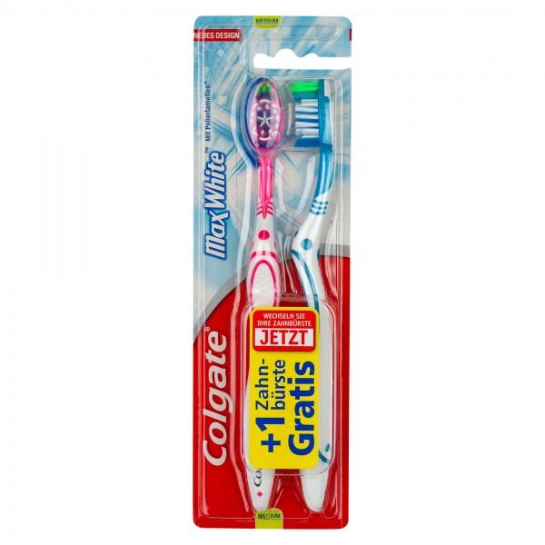Colgate Max White Whitening Multipack Medium Toothbrush 2pk 464826-V001 by Colgate