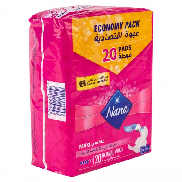 Nana Maxi Plus Normal Wings Pads 2 Packs of 20 464858-V001 by Nana