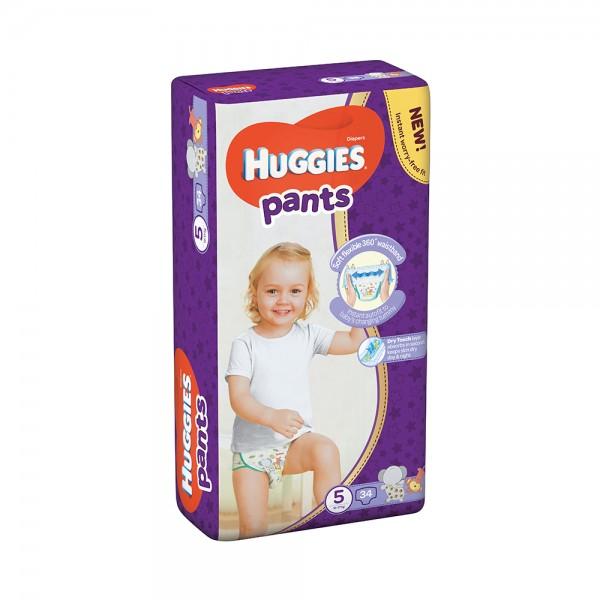 Huggies Pants Jumbo Pack Size 5 12-17Kg 34 Count 466047-V001 by Huggies
