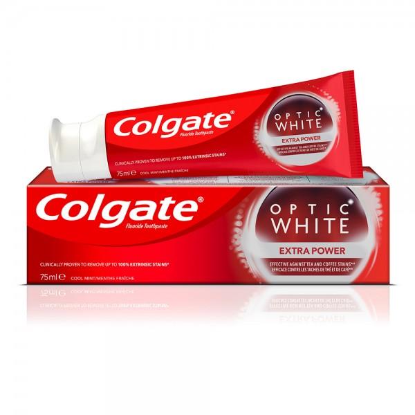 Colgate Optic White Extra Power Whitening Toothpaste, 75ml 469403-V001 by Colgate