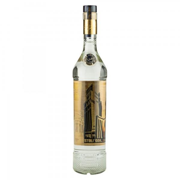 Stolichnaya Stoli Gold Vodka With Martini Glass 70cl 469658-V001
