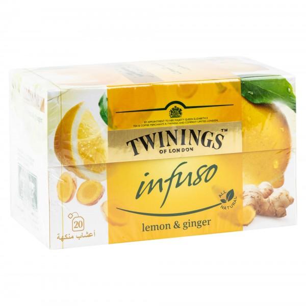 Twinings Infuso Lemon & Ginger Tea 100G 469886-V001