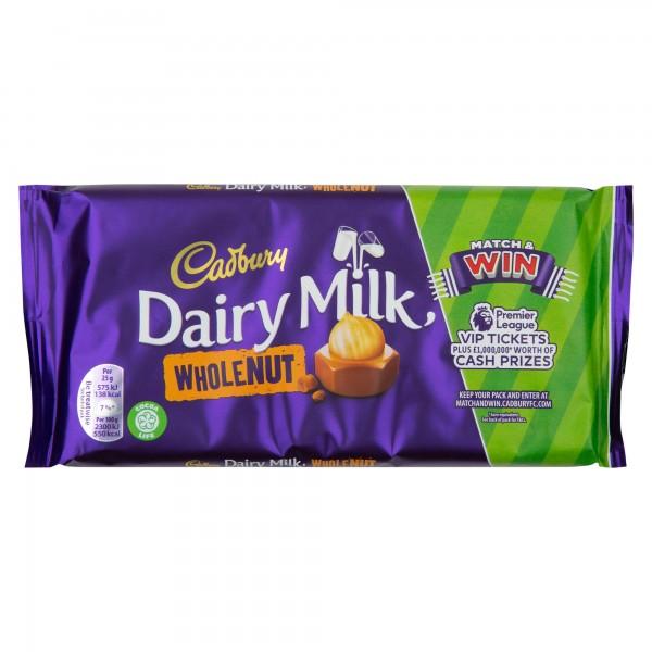Cadbury Dairy Milk Wholenut 200G 470399-V001 by Cadbury