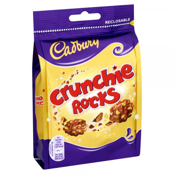Cadbury Crunchie Rocks Bag 110G 470932-V001 by Cadbury