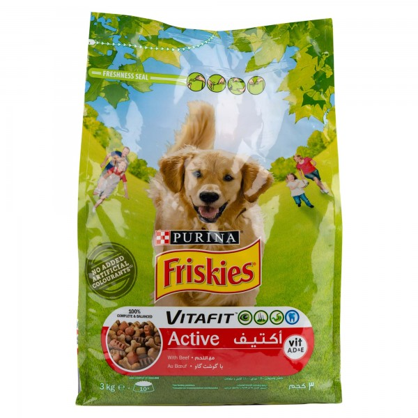 Purina Friskies Active With Meat For Adult Dogs 3 Kg 471048-V001 by Purina