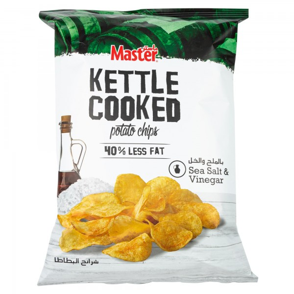 Master Kettle Sea Salt + Vinegar 144g 477164-V001 by Master Chips