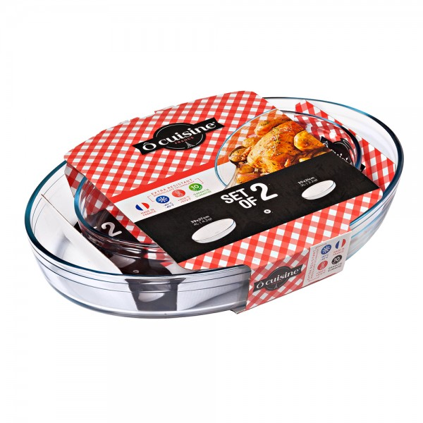 O Cuisine Oval Dish Set30*21+ 39*27Cm - 2Pc 477722-V001 by O Cuisine