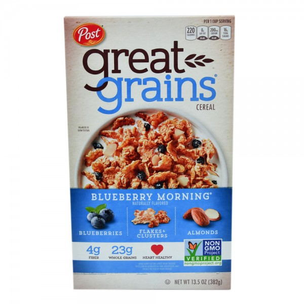 Post Great Grains Blueberry Morning 13.5oz 478600-V001 by Post