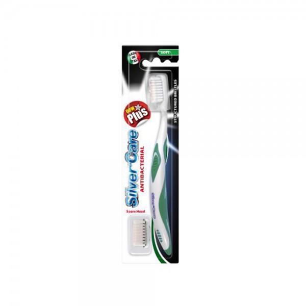 Silver C. Tb New Plus Soft + 1 Spare Head - 1Pc 478610-V001 by Silver Care
