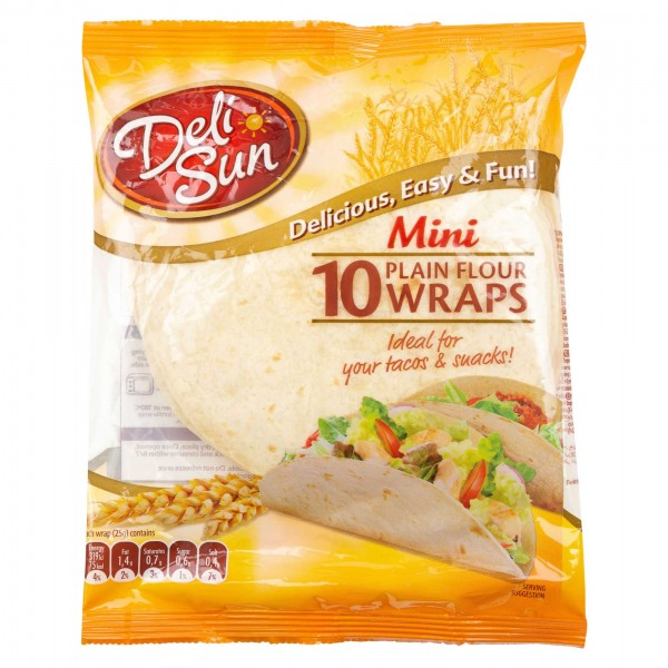 Deli Sun Mini Plain Flour 10 Wraps 250G 478887-V001 by Deli Sun