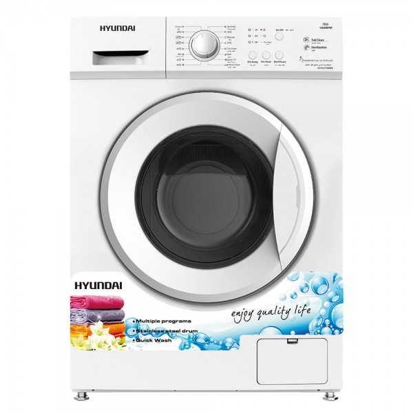 WASHER FRONT LOAD 1000RPM WHITE 480138-V001 by Hyundai