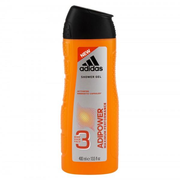 Adidas Shower Gel Adipower For Men 3 In 1 400ml 480805-V001 by Adidas