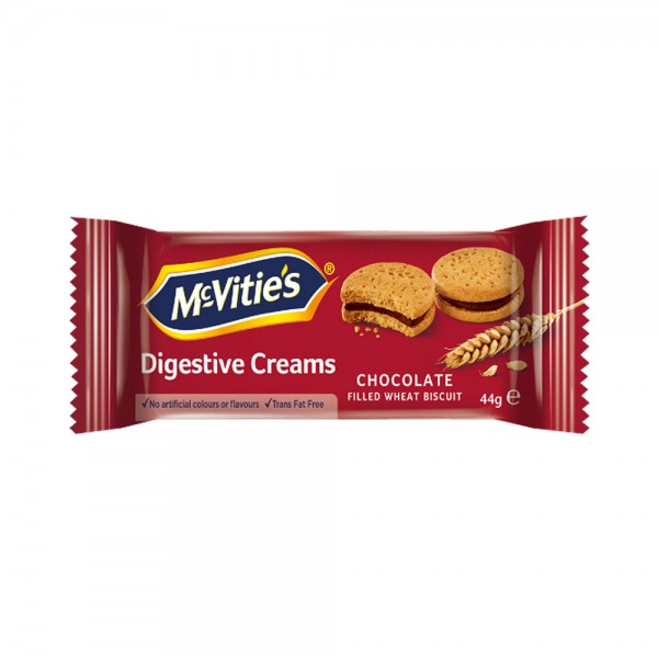 Mcvitie's Digestive Chocolate Creams 44G 481858-V001 by McVitie's