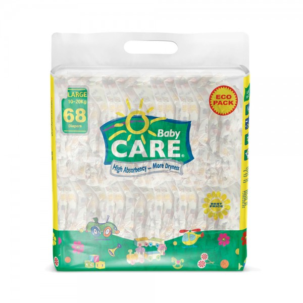 BABY DIAPERS ECO PACK LARGE 10-20KG SIZE 4 482059-V001 by Sanita