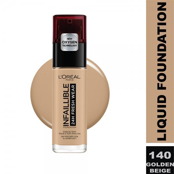 L'Oreal Paris - Infallible 24H Freshwear Liquid Foundation SPF25  140 Beige Dore/Go 484636-V001 by L'oreal