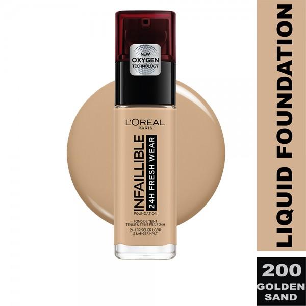 L'Oreal Paris - Infallible 24H Freshwear Liquid Foundation SPF25  200 Sable Dore/Go 484640-V001 by L'oreal