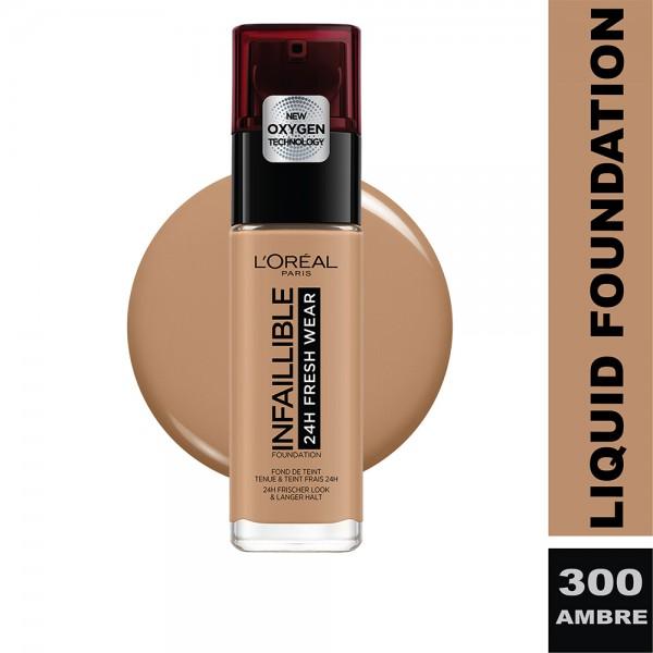 L'Oreal Paris - Infallible 24H Freshwear Liquid Foundation SPF25  300 Ambre/Amber 484641-V001 by L'oreal