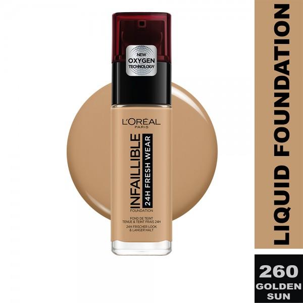 L'Oreal Paris - Infallible 24H Freshwear Liquid Foundation SPF25  260 Soleil Dore/G 484642-V001 by L'oreal