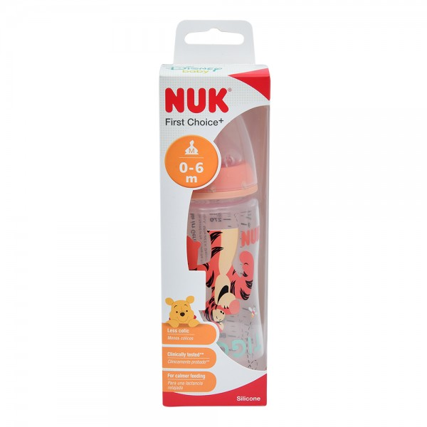NUK Disney Winnie the Pooh First Choice Plus Baby Bottle With Teat 0-6 Months 300ml 484743-V001 by NUK
