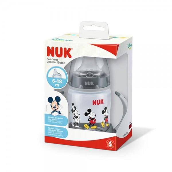 Nuk Mickey Pp Learn Btl Blck 6/18M 484750-V001 by NUK