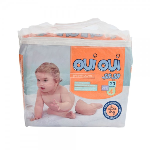 OUI OUI Premium Small 9-18Kg Size 4 20 Diapers 484789-V001 by Oui Oui