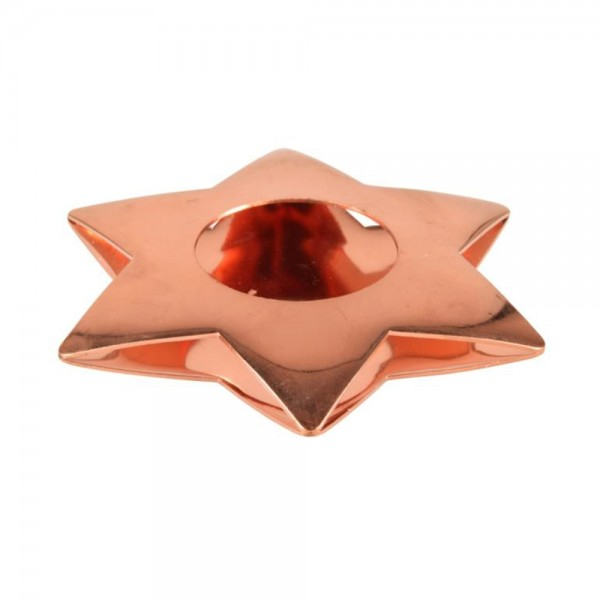 Pap Star Candle Holder Copper Star - 11Cm 485836-V001 by Pap Star