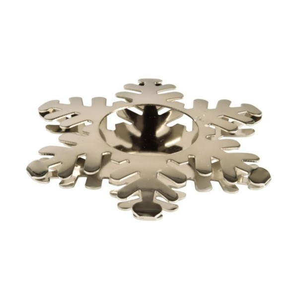 Pap Star Candle Holder Silver Snowflake - 11Cm 485838-V001 by Pap Star