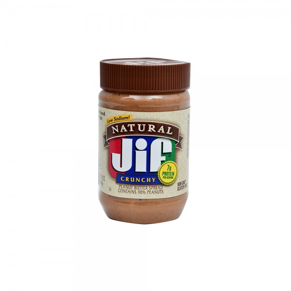 Jif Natural Crunchy Peanut Butter Spread Contains 90% Peanuts 16oz 486781-V001 by Jif Peanut Butter