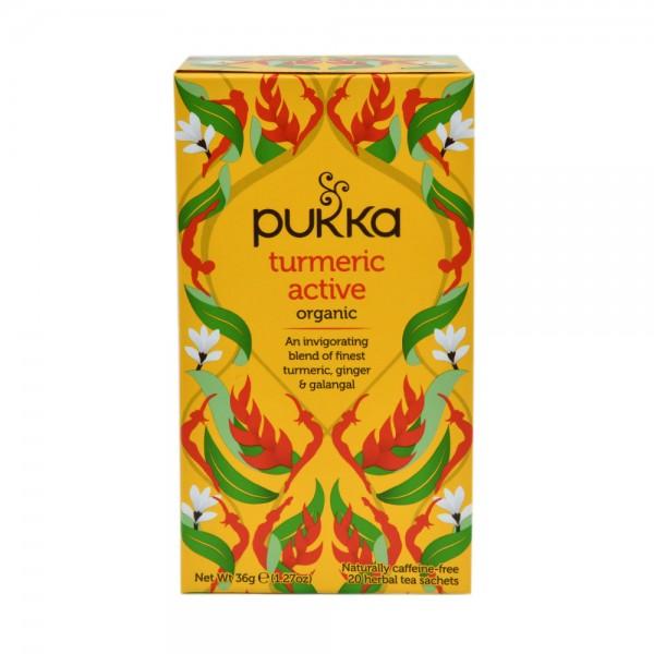 puKKa Turmeric Active 20 Herbal Tea Sachets 487813-V001 by Pukka