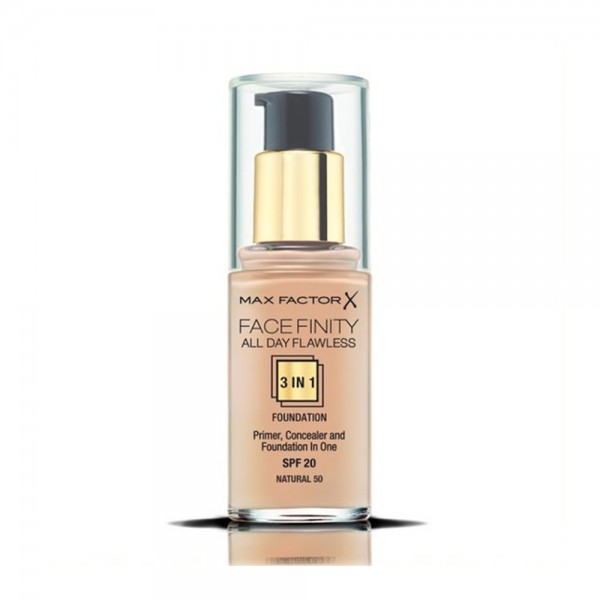 Max Factor Facefinity 3In1 50 Natural - 1Pc 488487-V001 by Max Factor