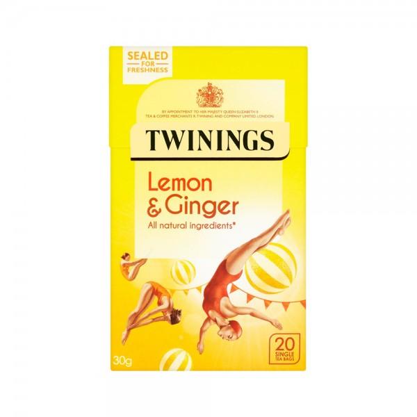 TWININGS Lemon & Ginger - 20 Single Tea Bags 488737-V001 by Twinings