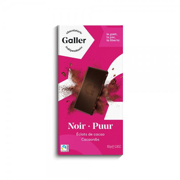 Galler Choc Tablet Noir 70Pcent Cacao - 80G 489039-V001 by Galler Chocolatier