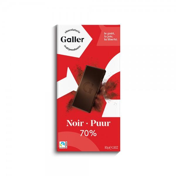 Galler Choc Tablet Noir 70Pcent Intense - 80G 489040-V001 by Galler Chocolatier