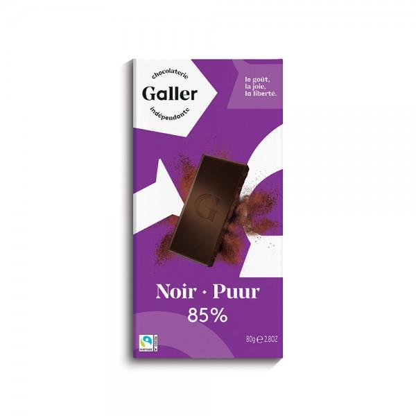 Galler Choc Tablet Noir 85Pcent Profond - 80G 489042-V001 by Galler Chocolatier