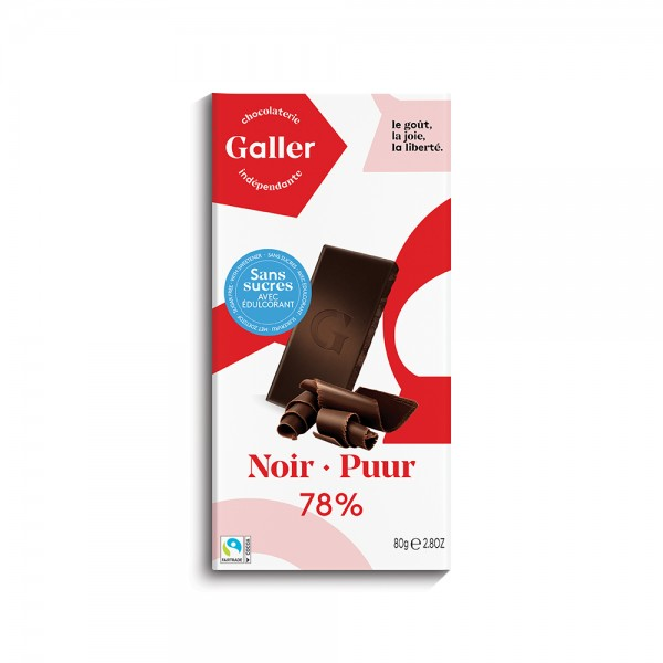 Galler Choc Tablet Noir 78Pcent Sf - 80G 489043-V001 by Galler Chocolatier