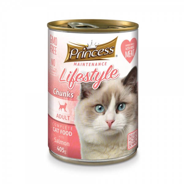 Canned Cat Salmon Food 489274-V001 by Princess