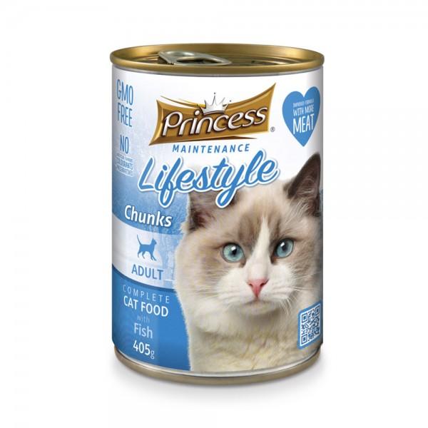 Princess Cat Canned Food Fish - 405G 489275-V001 by Princess