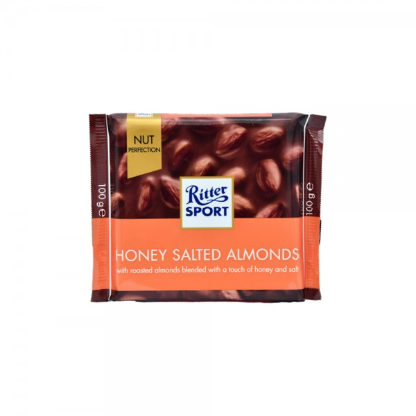 R.Sport Choco Honey Salt Almonds - 100G 490709-V001 by Ritter Sport