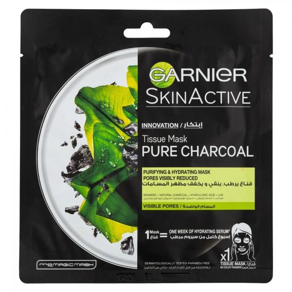 Garnier Skinactive Tissue Mask Charcoal 1 Piece 491445-V001 by Garnier