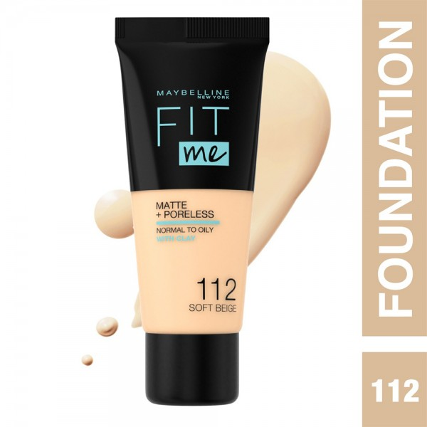 Maybelline My Fit Me Fdt Mat 112 Sofbei - 1Pc 491455-V001 by Maybelline