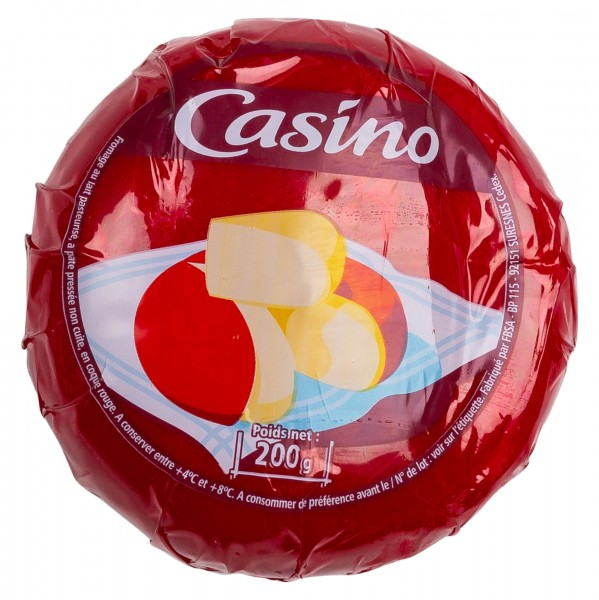 Casino Fromage Rond Rouge 200G 491806-V001 by Casino