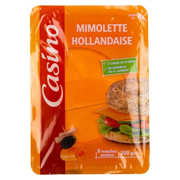 Casino Dutch Mimolette Cheese Slices, Small 200G 492010-V001 by Casino